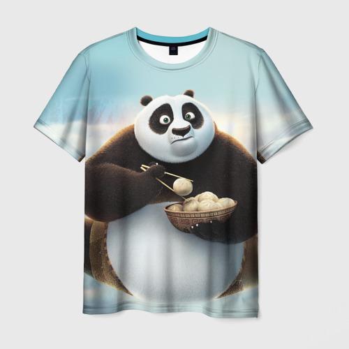 Мужская футболка 3D Кунг фу панда