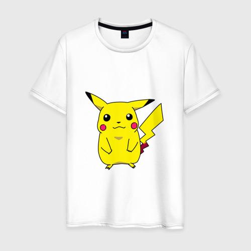 Мужская футболка хлопок Пикачу