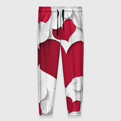 Женские брюки 3D Сердца
