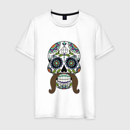 Мужская футболка хлопок Мексиканский череп для него
