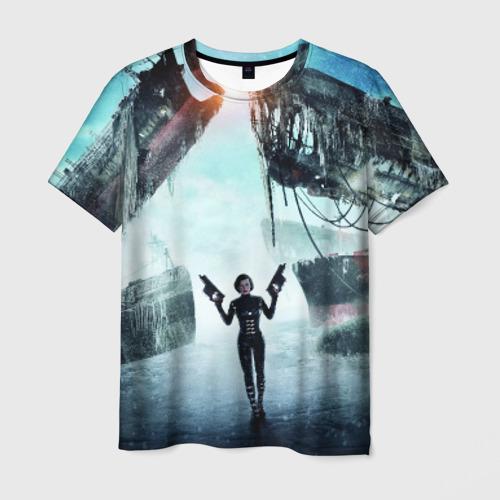 Мужская футболка 3D Обитель зла