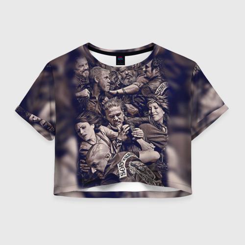 Женская футболка Crop-top 3D Sons Of Anarchy
