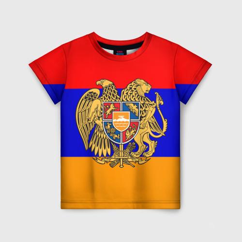 Детская футболка 3D Герб и флаг Армении