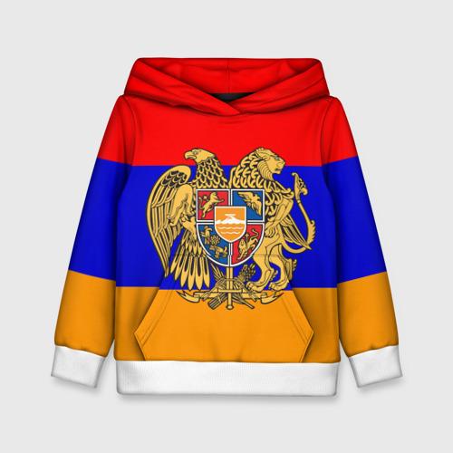 Детская толстовка 3D Герб и флаг Армении