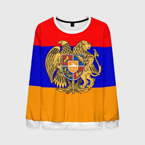 Мужской свитшот 3D Герб и флаг Армении