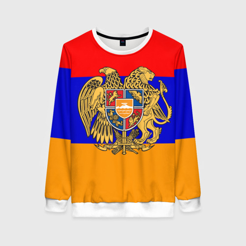 Женский свитшот 3D Герб и флаг Армении