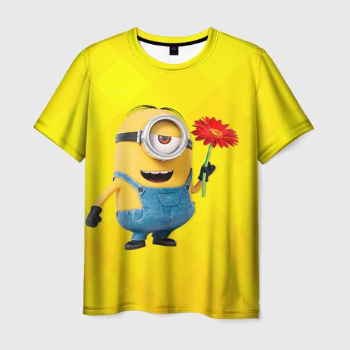 Мужская футболка 3D Цветочек