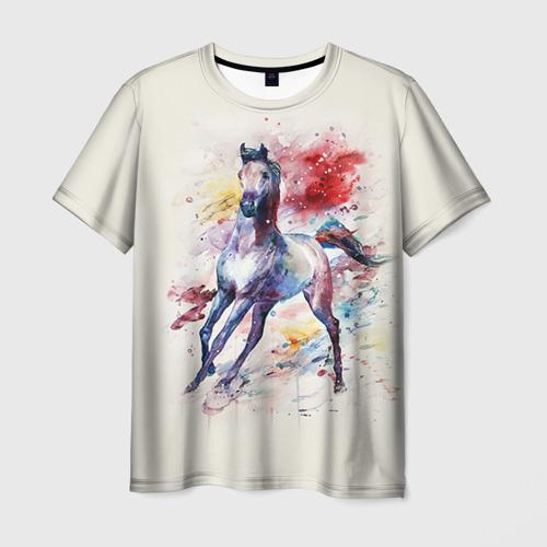 Мужская футболка 3D Лошадь. Арт 1