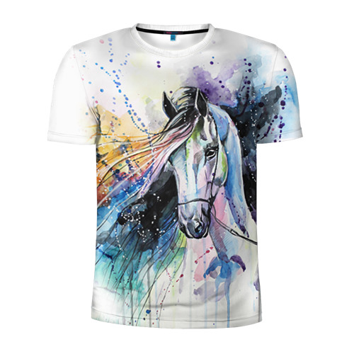 Мужская футболка 3D спортивная Лошадь. Арт 3
