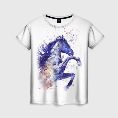 Женская футболка 3D Лошадь. Арт 4
