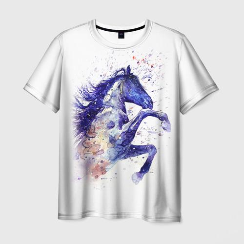 Мужская футболка 3D Лошадь. Арт 4