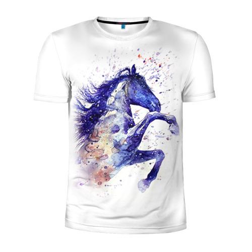 Мужская футболка 3D спортивная Лошадь. Арт 4