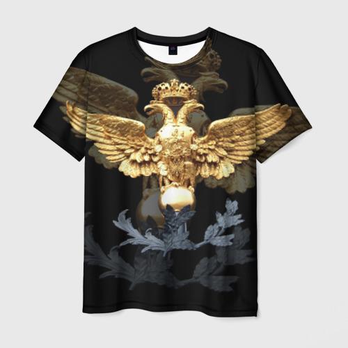 Мужская футболка 3D Золотой орел