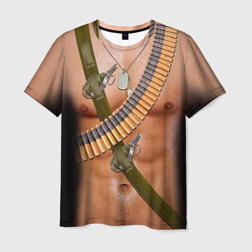 Мужская футболка 3D Солдат