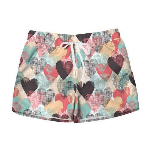 Женские шорты 3D Сердечки