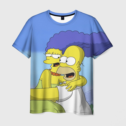 Мужская футболка 3D Гомер и Мардж