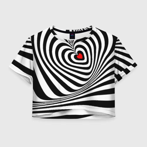 Женская футболка Crop-top 3D Метаморфозы