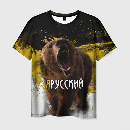 Мужская футболка 3D Я русский