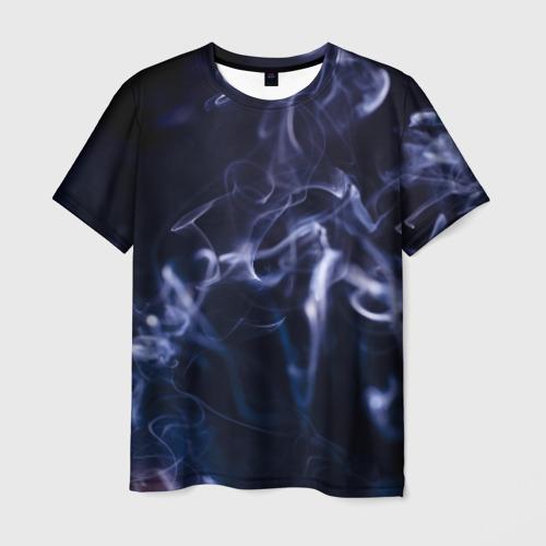 Мужская футболка 3D Синий дым