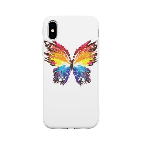 Чехол для iPhone X матовый Butterfly