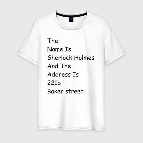 Мужская футболка хлопок The names Sherlock Holmes