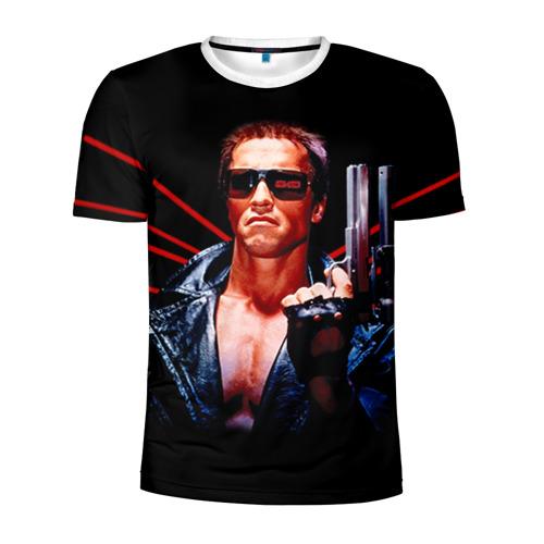 Мужская футболка 3D спортивная Терминатор 1