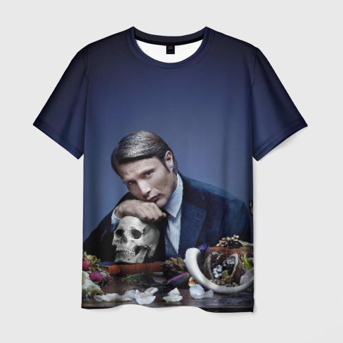 Мужская футболка 3D Ганнибал Лектер