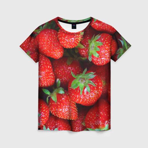 Женская футболка 3D Клубничная