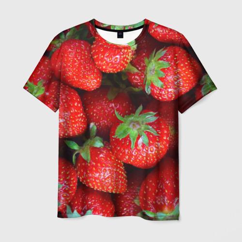 Мужская футболка 3D Клубничная