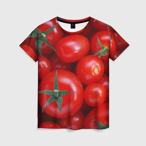 Женская футболка 3D Томатная