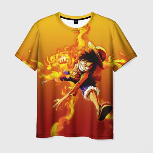 Мужская футболка 3D Луффи из One Piece