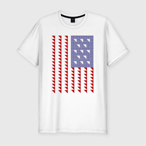 Мужская футболка хлопок Slim Triangle US