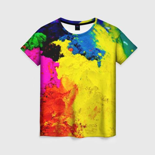Женская футболка 3D Индуистский фестиваль красок