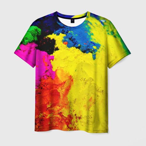 Мужская футболка 3D Индуистский фестиваль красок