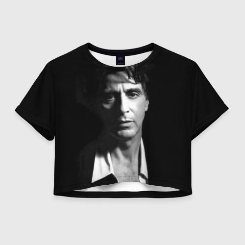 Женская футболка Crop-top 3D Аль Пачино