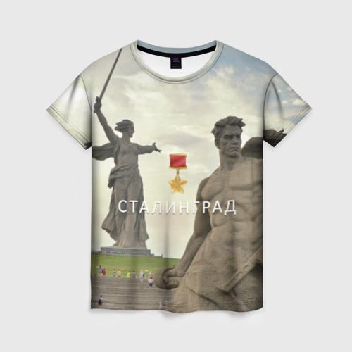 Женская футболка 3D Город-герой Сталинград