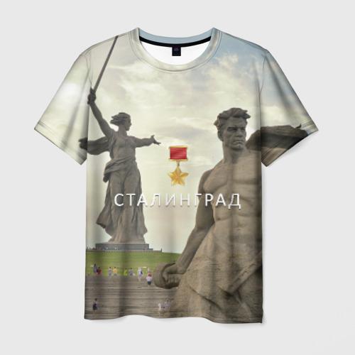 Мужская футболка 3D Город-герой Сталинград
