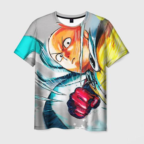 Мужская футболка 3D Ванпанчмен замах