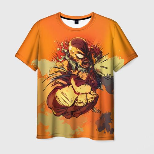 Мужская футболка 3D Сенпай гнев
