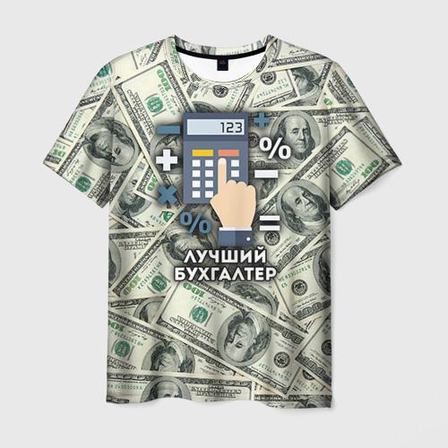 Мужская футболка 3D Лучший бухгалтер