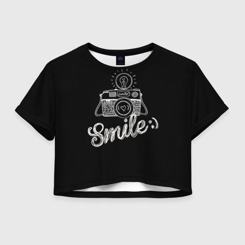 Женская футболка Crop-top 3D Smile
