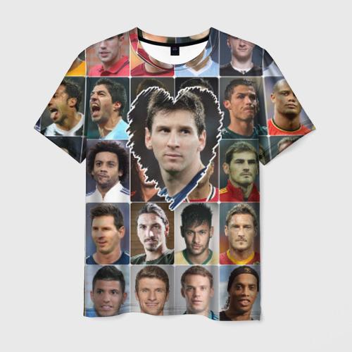 Мужская футболка 3D Лионель Месси - лучший