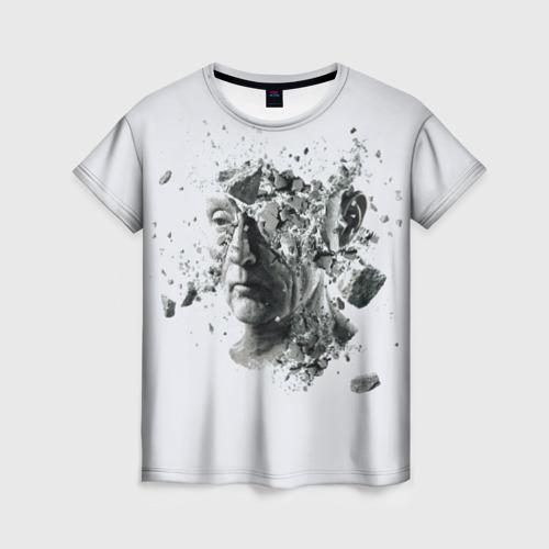 Женская футболка 3D Пила