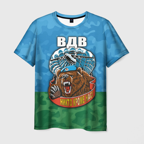 Мужская футболка 3D ВДВ медведь