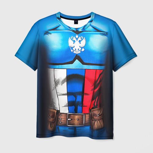Мужская футболка 3D Капитан Россия