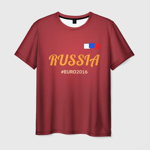 Мужская футболка 3D Сборная России 2016