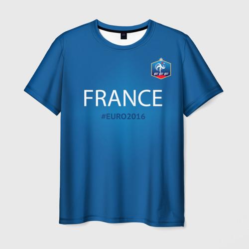 Мужская футболка 3D Сборная Франции 2016