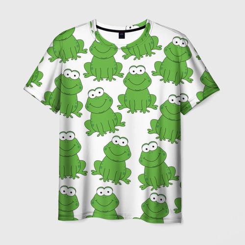 Мужская футболка 3D Лягушки