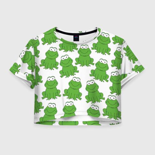 Женская футболка Crop-top 3D Лягушки