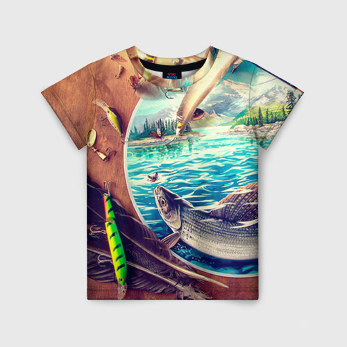 Детская футболка 3D Рыбацкое